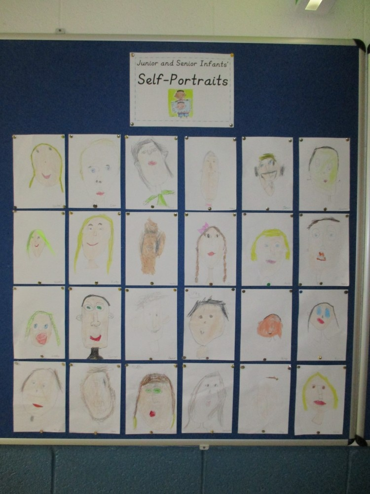 Self-Portraits by Junior and Senior Infants