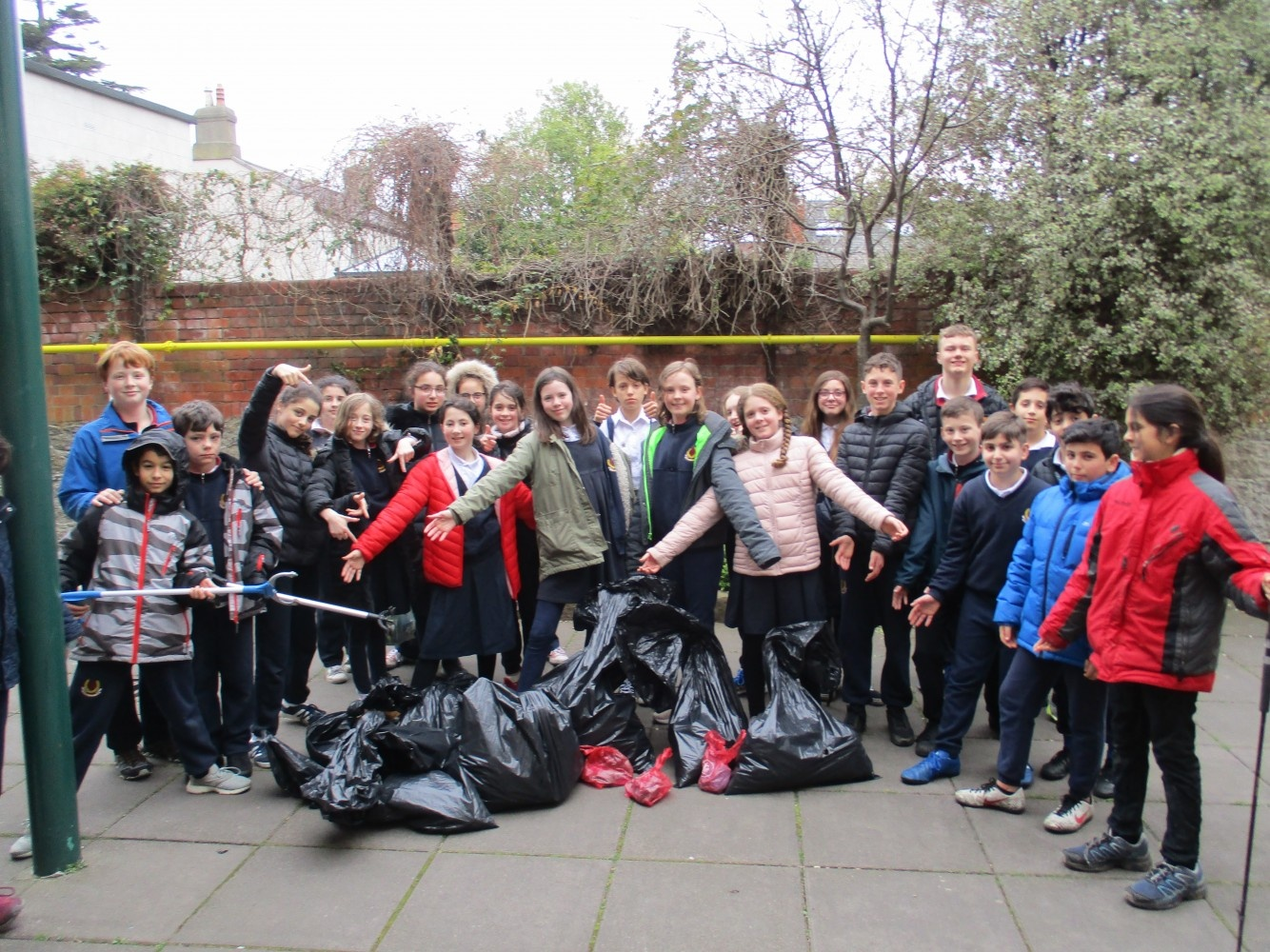 Litter Clean-up in Herzog Park