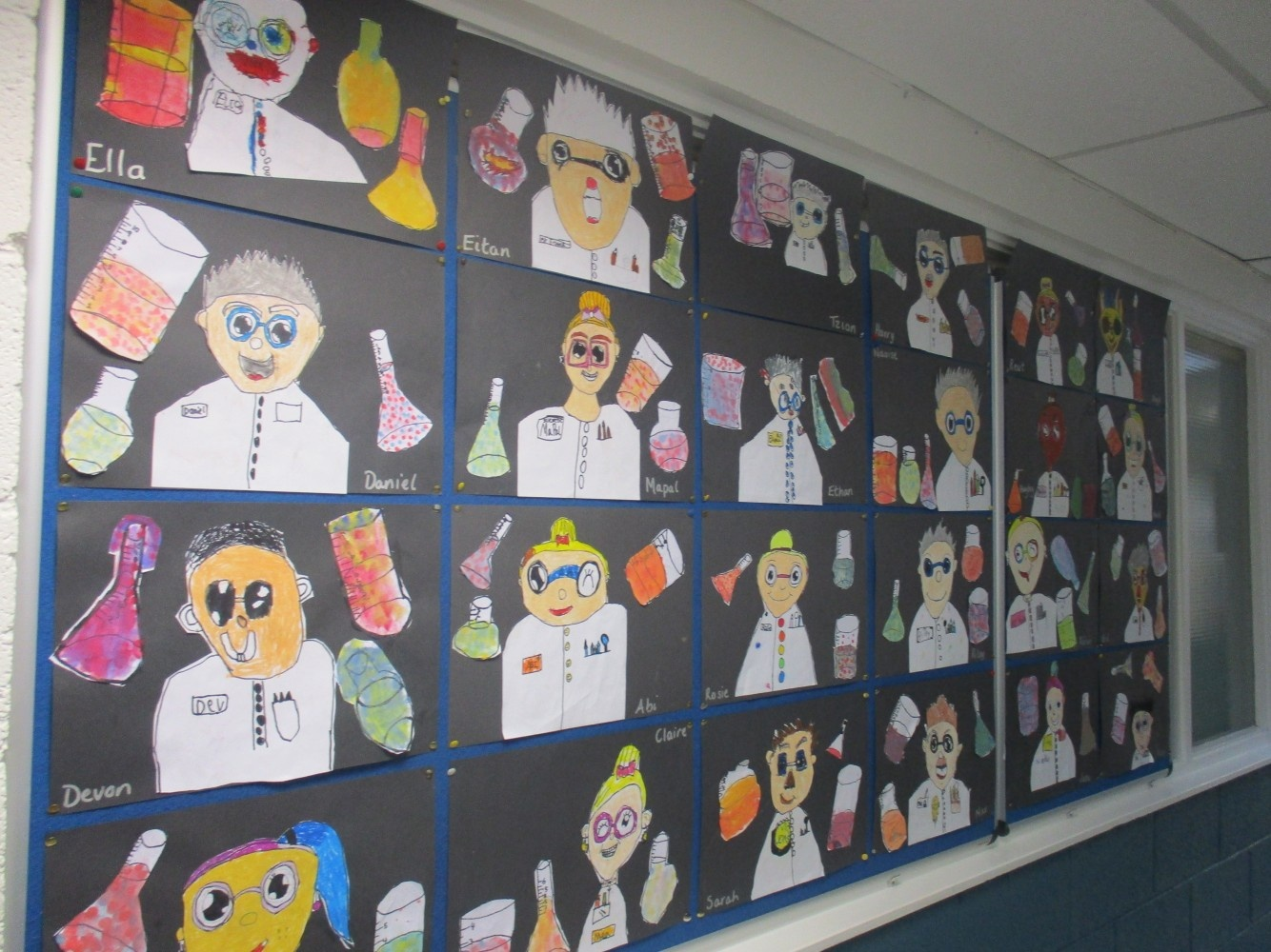 Mad Scientists Art by 1st and 2nd Class